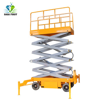 8m 1000kg Man Make Towable Scissor Lift with Durable Structure