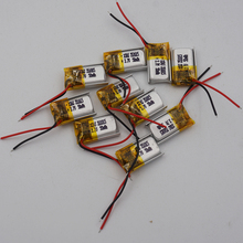 XINJ 10pcs 3.7V 50mAh Li lithium polymer battery li po Liion cell 351015 For DIY headphone bluetooth bluetooth speaker earphone
