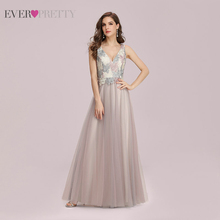 Prom-Dresses Lace Ever Pretty Tulle A-Line Party Night-Vestidos Pink Elegant Sleeveless