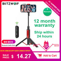 BlitzWolf BW-BS10 Все в одном Портативный блютус-селфи с выдвижным штативом Выдвижной складной монопод Live Stream Путешествия Мужчины Женщины для iPhone 11...