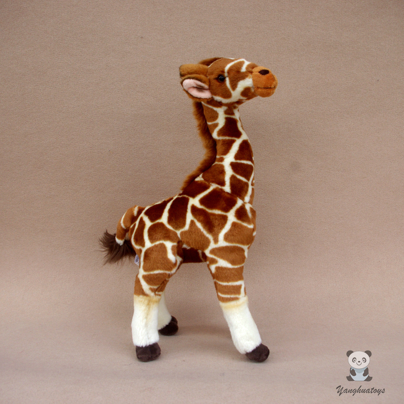 African Prairie Animal Plush Toy Real life Giraffe Figurine Popular Science Present Zoo Memorial Toys high quality