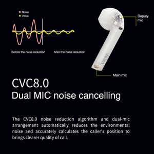 Image 4 - EDIFIER TWS200 Qualcomm aptX Wireless earphone Bluetooth 5.0 TWS Earbuds  cVc Dual MIC Noise  cancelling up to 24h playback time
