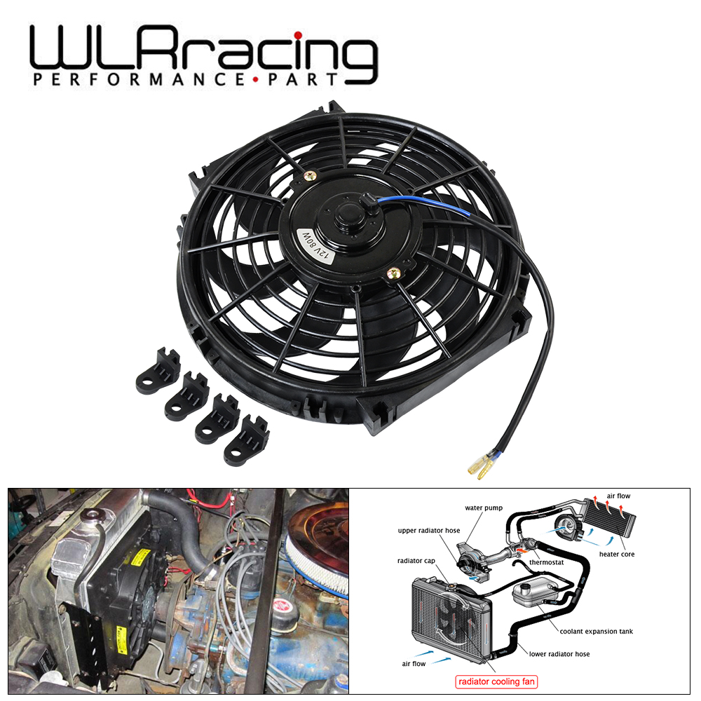 2 sets High Performence 8 Straight Blade Electric Radiator Cooling Fan 12v