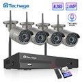 H.265 8CH 1080P 2MP Беспроводная NVR система видеонаблюдения Двусторонняя аудио <font><b>IR</b></font> наружная WiFi ip-камера P2P комплект видеонаблюдения 1 ТБ HDD