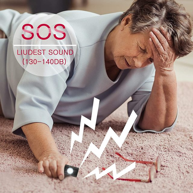 The Original Safety Alarm Self Defense Siren-Portable  for Women w/SOS LED Light & Carabiner Helps Elders & Kids Emergency Call 6