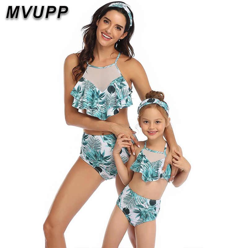 ครอบครัวชุดว่ายน้ำ Mommy และ ME เสื้อผ้าบิกินี่กางเกงขาสั้นชายหาดแม่ลูกสาวชุดว่ายน้ำเด็กทารกและแม่ชุดครอบครัว maching ดู