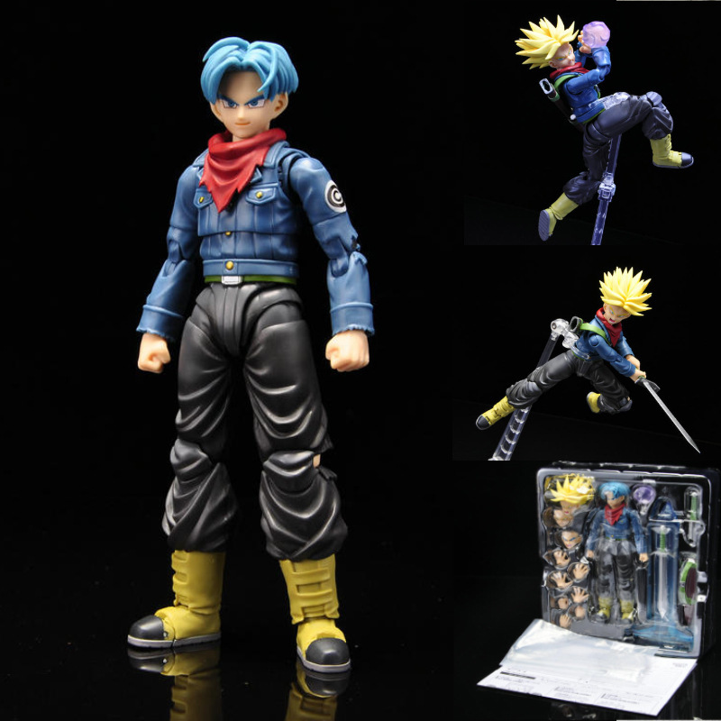 Dragon Ball Super Future Trunks Action Figures Movable Toy 150mm Anime Dragon Ball Z Trunks Super Saiyan Figurine Toys