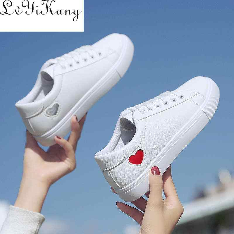 2019 New Wedges White Shoes Female Platform Sneakers Women Tenis Feminino Casual Woman Summer Zapatos De Mujer  Canvas