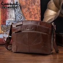 цена Cobbler Legend Multi Pockets Vintage Genuine Leather Bag Female Small Women Handbags Bags For Women 2017 Shoulder Crossbody Bag