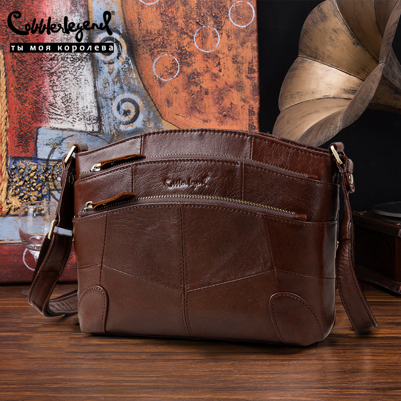 Cobbler Legend Multi Pockets Vintage Genuine Leather Bag Female Small Women Handbags Bags For Women 2019 Shoulder Crossbody Bag