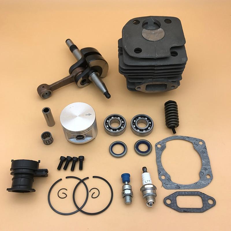 Tools : 48mm  amp  50mm Piston Cylinder Crankshaft Bearing Buffer Spring Spark Plug Kit For Husqvarna 362 365 371 372 372XP Chainsaw Parts