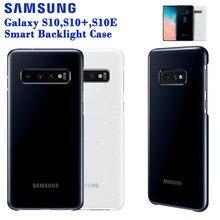 Samsung orijinal akıllı LED kapak Samsung Galaxy S10 artı S10E S10 S10 + G9730 G9750 G9750 duygusal Led aydınlatma etkisi
