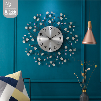 Wall clock European style foreign trade mute living room decoration bedroom creative living room clock