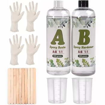 1000g 1:1 AB UV Epoxy Resin Glue Kit High Adhesive Crystal Clear Resin For DIY Resin Jewelry Making  Resin Crafts