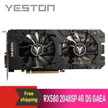 Yeston Radeon RX580 2048 SP-4G GDDR5 PCI Express X16 3.0 Video Game Grafis Eksternal Kartu Grafis untuk Desktop(China)