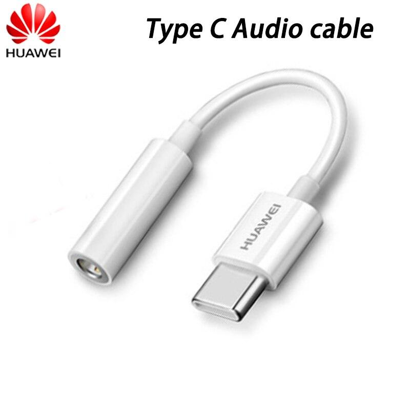 Оригинальный адаптер для наушников Huawei с разъемом USB Type-C на 3,5 мм, аудиокабель Aux, наушники для P40 P30 P20 Pro + Mate 20 RS, конвертер