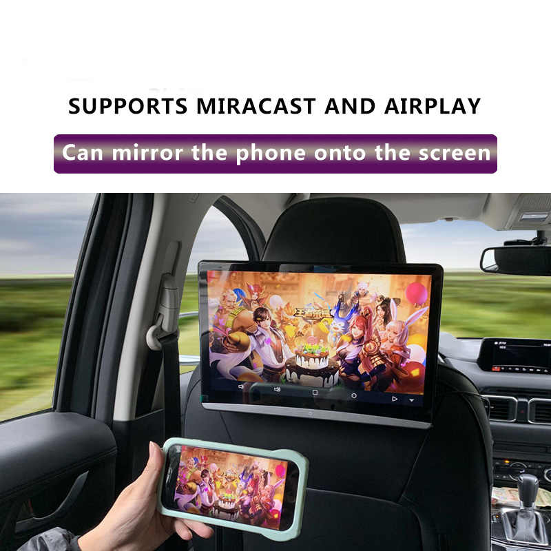 12,5 Zoll Android 9.0 2GB + 16GB Auto Kopfstütze Monitor Gleichen Bildschirm 4K 1080P MP5 WIFI/ bluetooth/USB/SD/HDMI/FM/Spiegel Link/Miracast