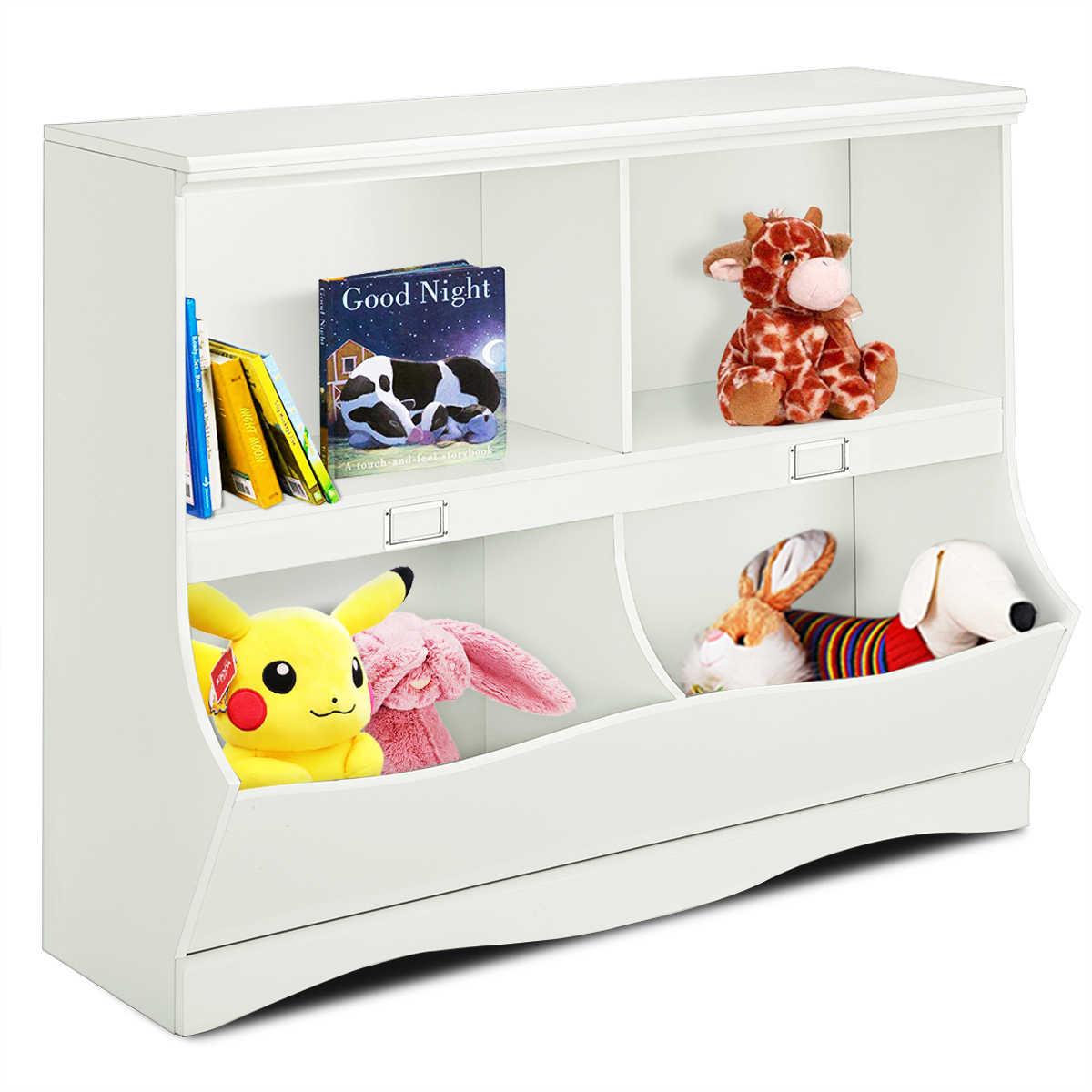 Kids Storage Unit White Baby Toy Organizer Shelf Children Bookshelf Bookcase Storage Organizers Aliexpress