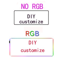 Grand tapis de souris RGB personnalisé, Agent de vente directe d'usine bricolage lien personnalisé, clients VIP