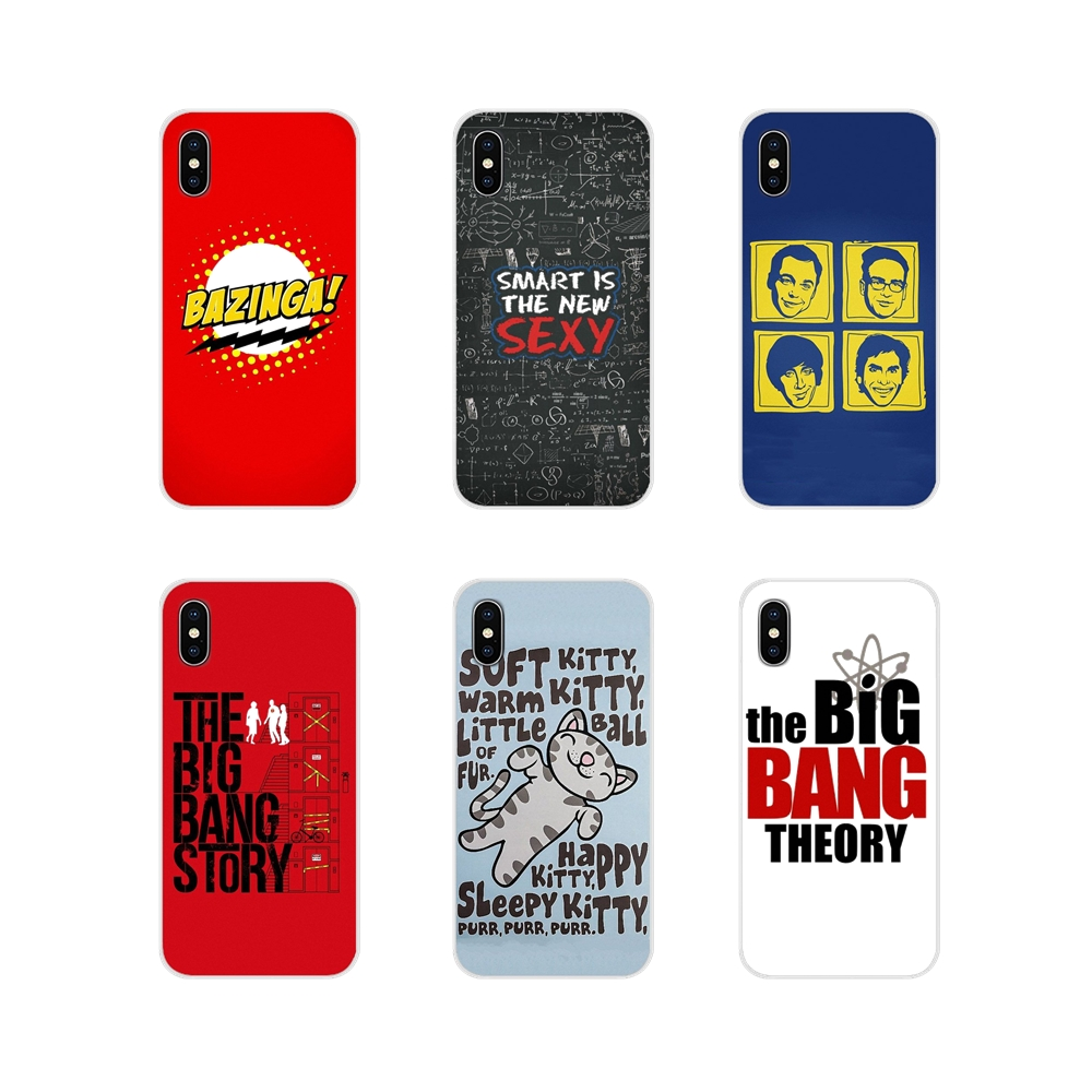 For Huawei Honor 4C 5C 6X 7 7A 7C 8 9 10 8C 8S 8X 9X 10I 20 Lite Pro Accessories <font><b>Phone</b></font> Shell Covers The <font><b>Big</b></font> <font><b>Bang</b></font> Theory Black image