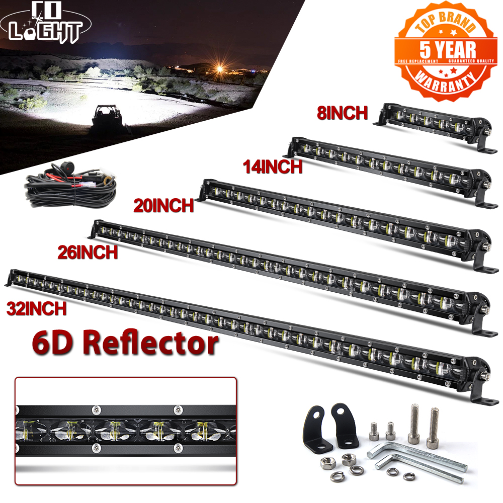 Lamp Led-Light-Bar Spot-Flood-Combo SUV Slim Off-Road 6D 4X4 50--Inch 12V for 8-14-20-26-32--38-44-
