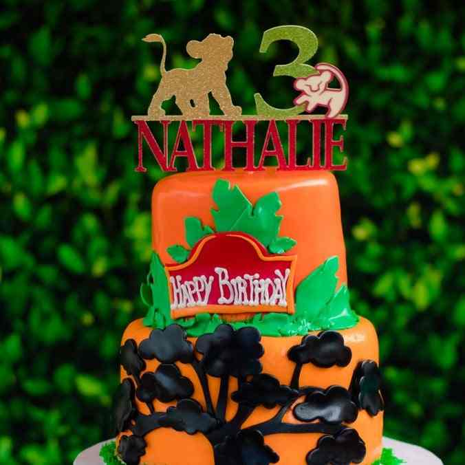 Fabulous Personalise Name Age Glitter Lion King Cake Topper Lion King Funny Birthday Cards Online Barepcheapnameinfo