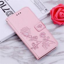 Leather Flip Case Voor Huawei Nova 5 T Cover Card Slots Wallet Flip Case Voor Huawei Nova 5 T Nova5 T Case Rose Bloem Funda Coque