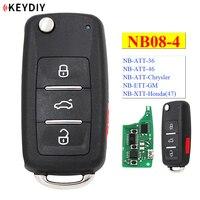 Keydiy 4 botão multi-funcional controle remoto NB08-3 + 1 NB08-4 série nb universal para kd900 urg200 KD-X2 todas as funções em um