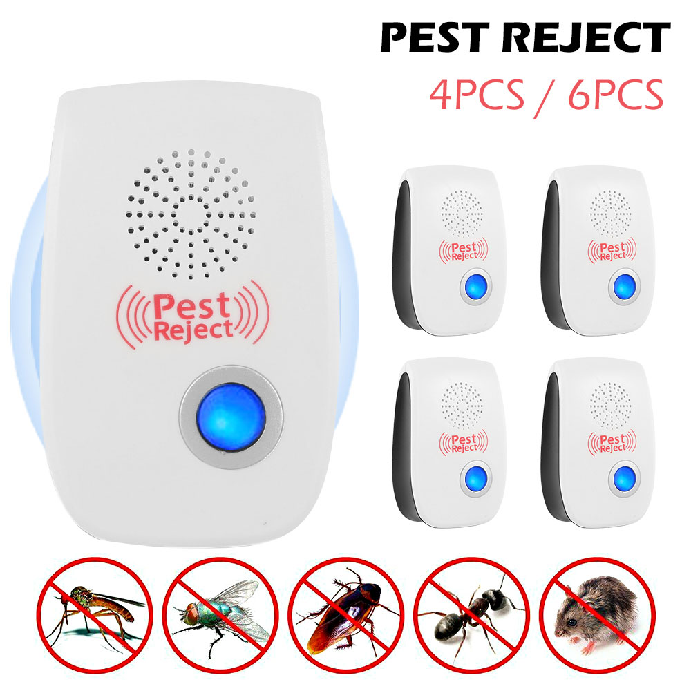 Pest Reject Ultrasonic Double-horn High-power Repeller To Remove The Insects To Eliminate The Moles Electromagnetic Drive