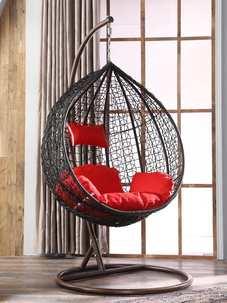Double Hanging Basket Rattan Chair Chair Family Hammock Indoor Bird's Nest Balcony Swing