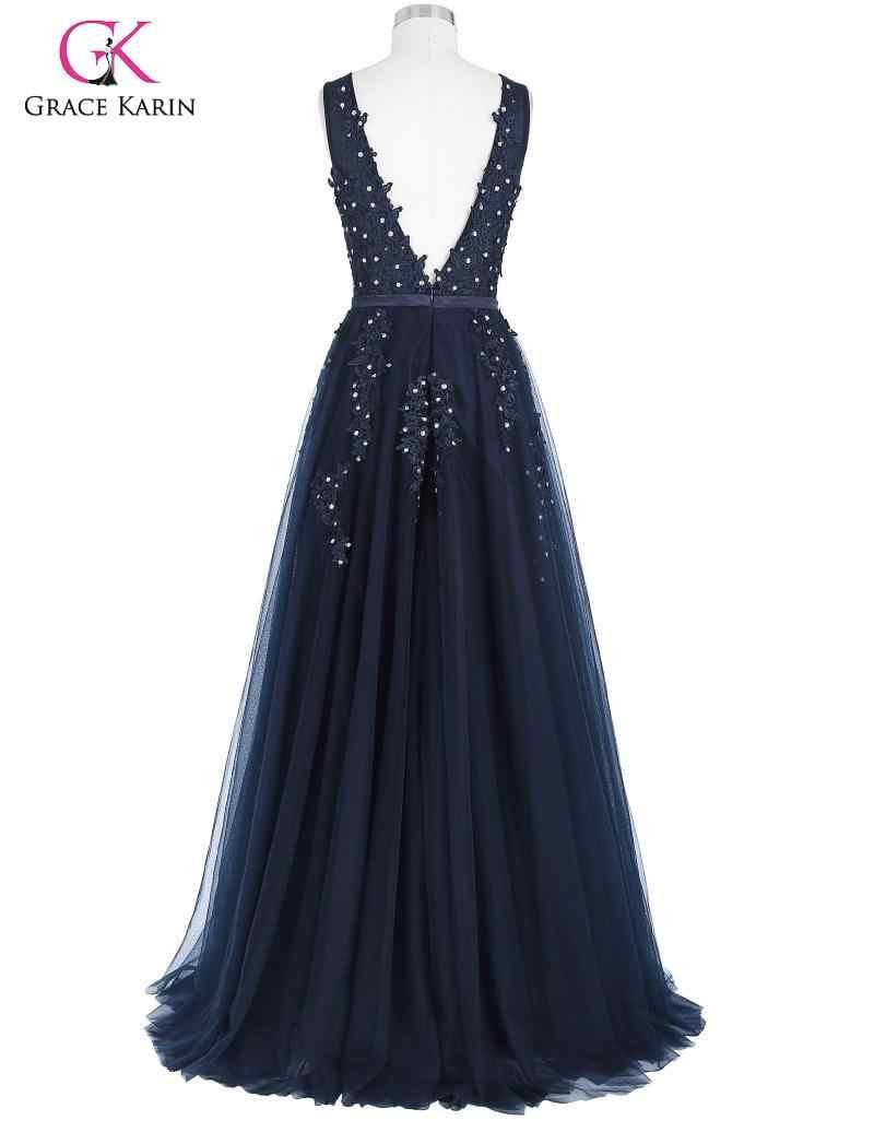 Grace Karin/вечерние женские платья на выпускной, элегантное кружевное Тюлевое платье для невесты, подружки невесты, свадебные вечерние платья, длинное вечернее платье Макси