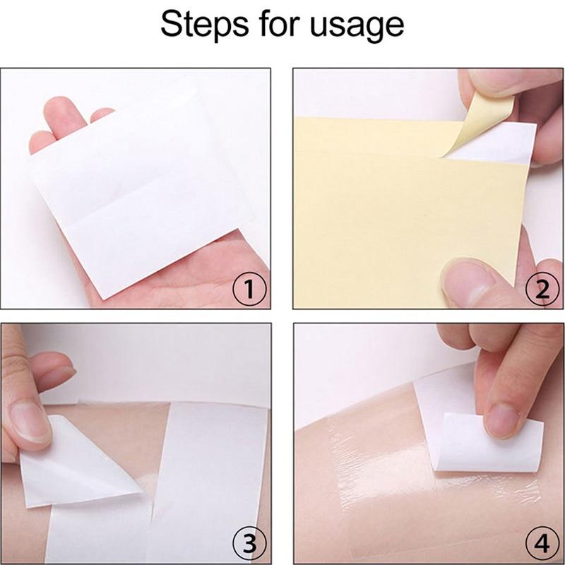 1Roll Disposable Armpit Sweat Pads Transparent Underarm Antiperspirant Sticker Keep Dry Sticke