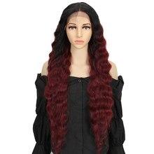 Bella – perruque synthétique Lolita, cheveux ondulés, 30 pouces, Simulation du cuir chevelu, partie centrale, Cosplay, pour femmes