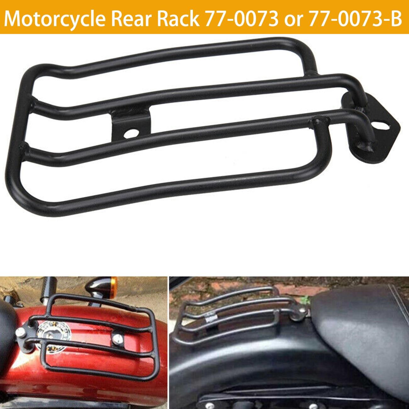 For Harley Sportster Iron 48 883 XL1200 2004-2018 2015 2016 2017 Sissy Bar Backrest Luggage Solo Shelf Frame Rack