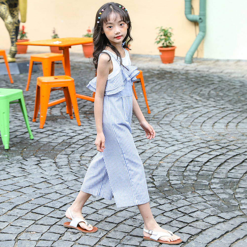 2020 Summer Girls Sleeveless Outfit Kids 2 pcs <font><b>Clothes</b></font> Baby Girl Clothing for Teens Age 5 6 7 8 9 10 <font><b>11</b></font> 12 13 14T <font><b>Years</b></font> <font><b>Old</b></font> image