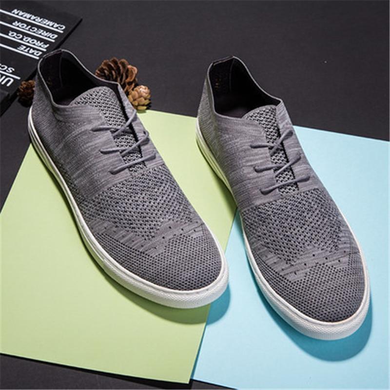 Flyweaver обувь мужская Британский стиль дышащий повседневная обувь с трендовой сетчатой панелью обувь - 2