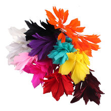 25-35CM DIY corsages Flower Feathers Dance Latin Dance Decoration Elegant Nice Wedding Dinner Party Plume Headwear accessories(China)