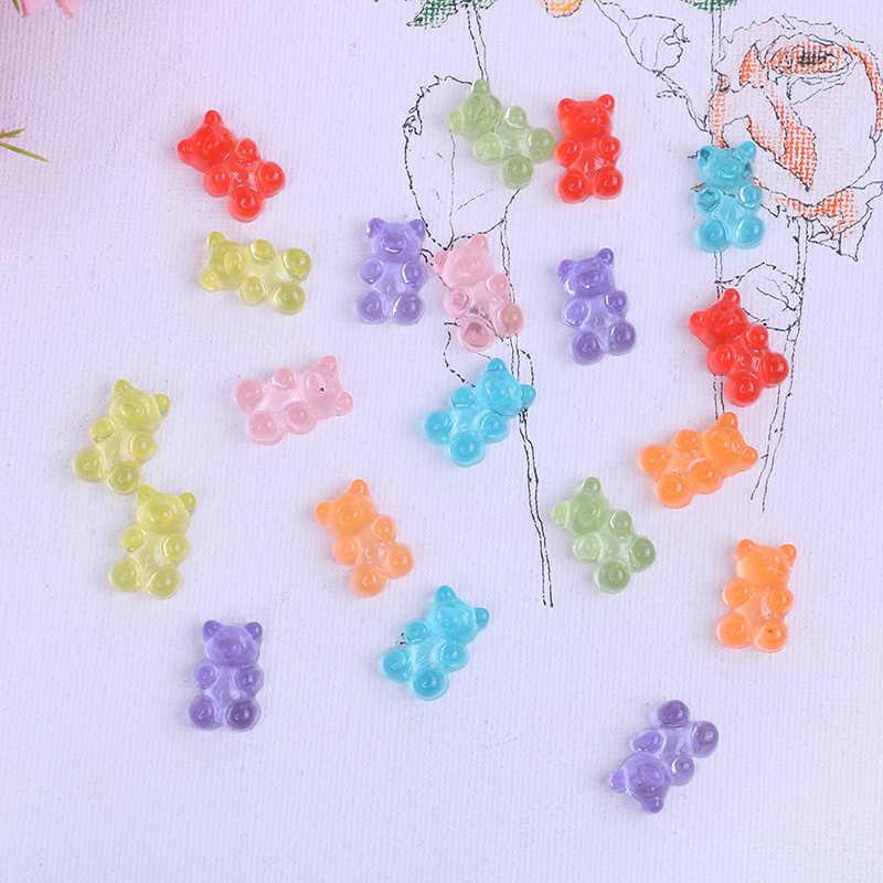 Polvilha Mini Polímero Slime Caixa de Brinquedo Para Crianças do Urso Dos Doces Resina Encantos Lizun Modelagem em Argila DIY Kit Acessórios Caçoa o Presente