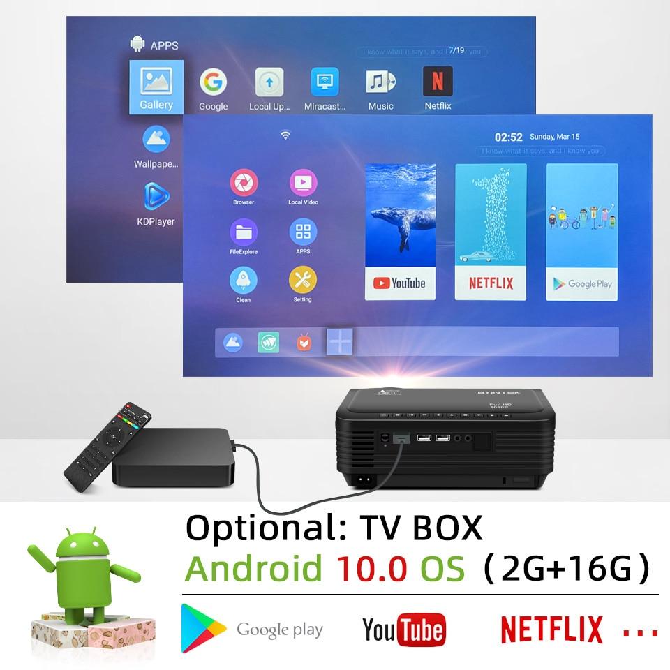 BYINTEK K18 Mais Barato 1920x1080 Full HD 1080P Mini Projetor Portátil Game LCD LED 3D (Opcional Android 10 TV BOX  para Smartphone)-3