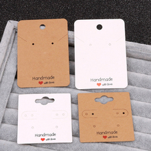 30pcs 5x5cm/5x7cm Earrings Necklaces Display Cards Cardboard Jewelry Packaging Hang Tag Ear Studs Paper Card for Jewelry Display