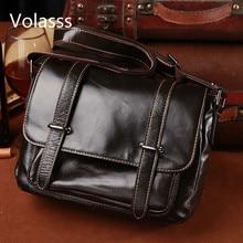 Men's Postman Bags Business Shoulder Messenger Bag Genuine Leather Bag Men Bag Bolso Hombre Briefcase Bandolera Hombre Sac Homme