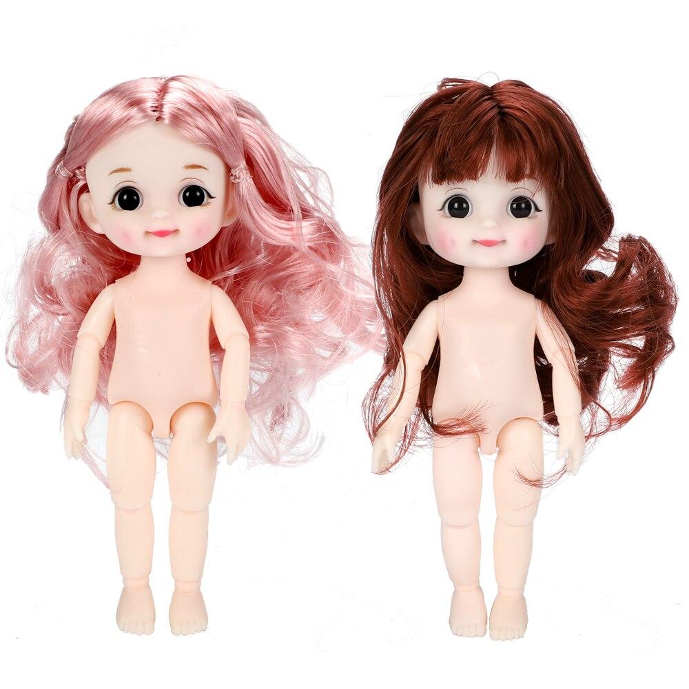 BJD poupée fossette sourire 13 mobile joint 16cm Surprise Blyth poupées jouets bébé nu femmes corps poupées pour filles cadeau jouet