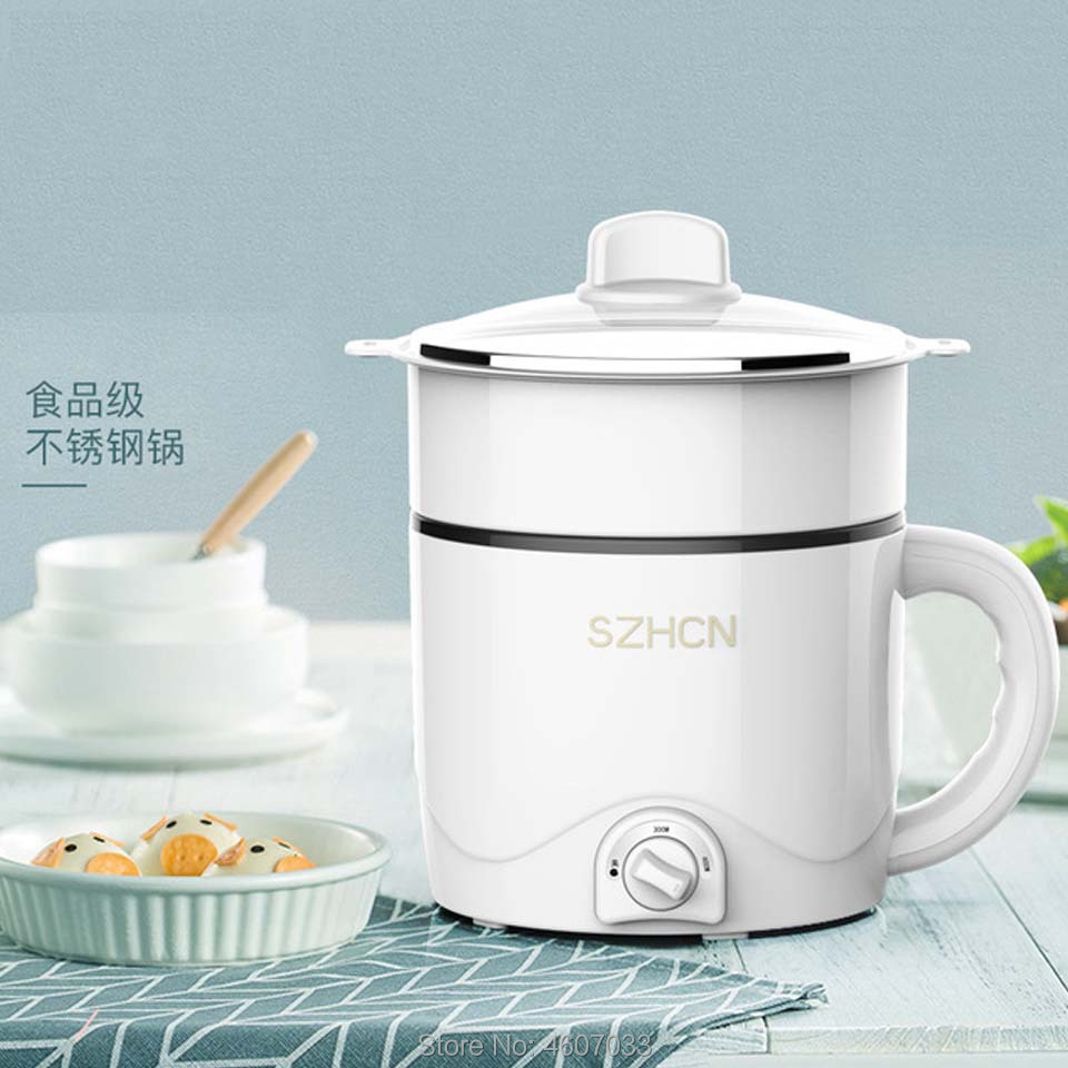 220V Multifunctional Electric Cooker Heating Pan Electric Cooking Pot Machine Fry Hotpot Noodles Eggs Soup Steamer Mini Cooker