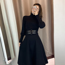 Mori girl women long sleeve turtleneck top+high waist gothic black midi skirt matching sets fall 2020 birthday outfits for women(China)