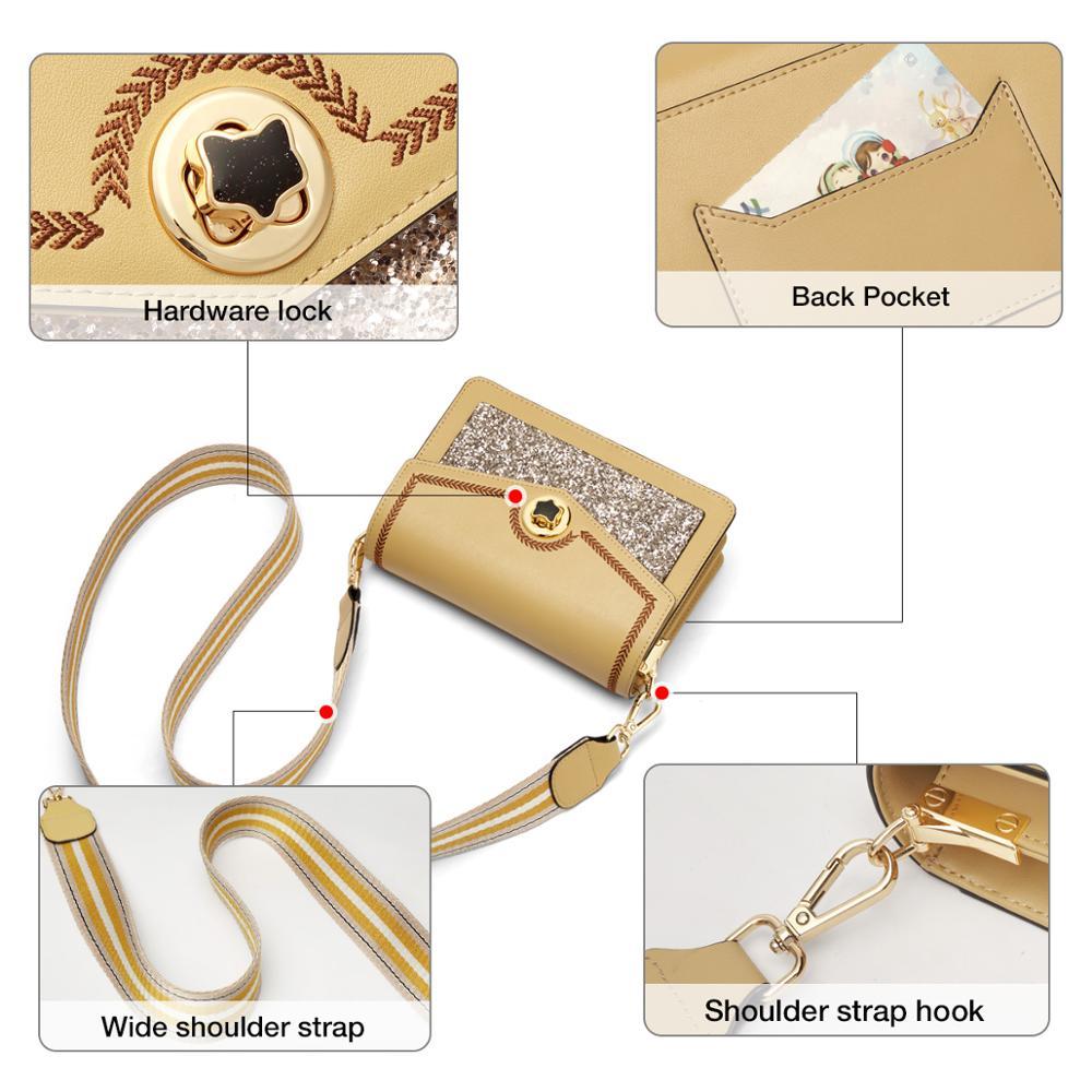 Foxer Uny Leather Crossbody Shoulder Bag Women