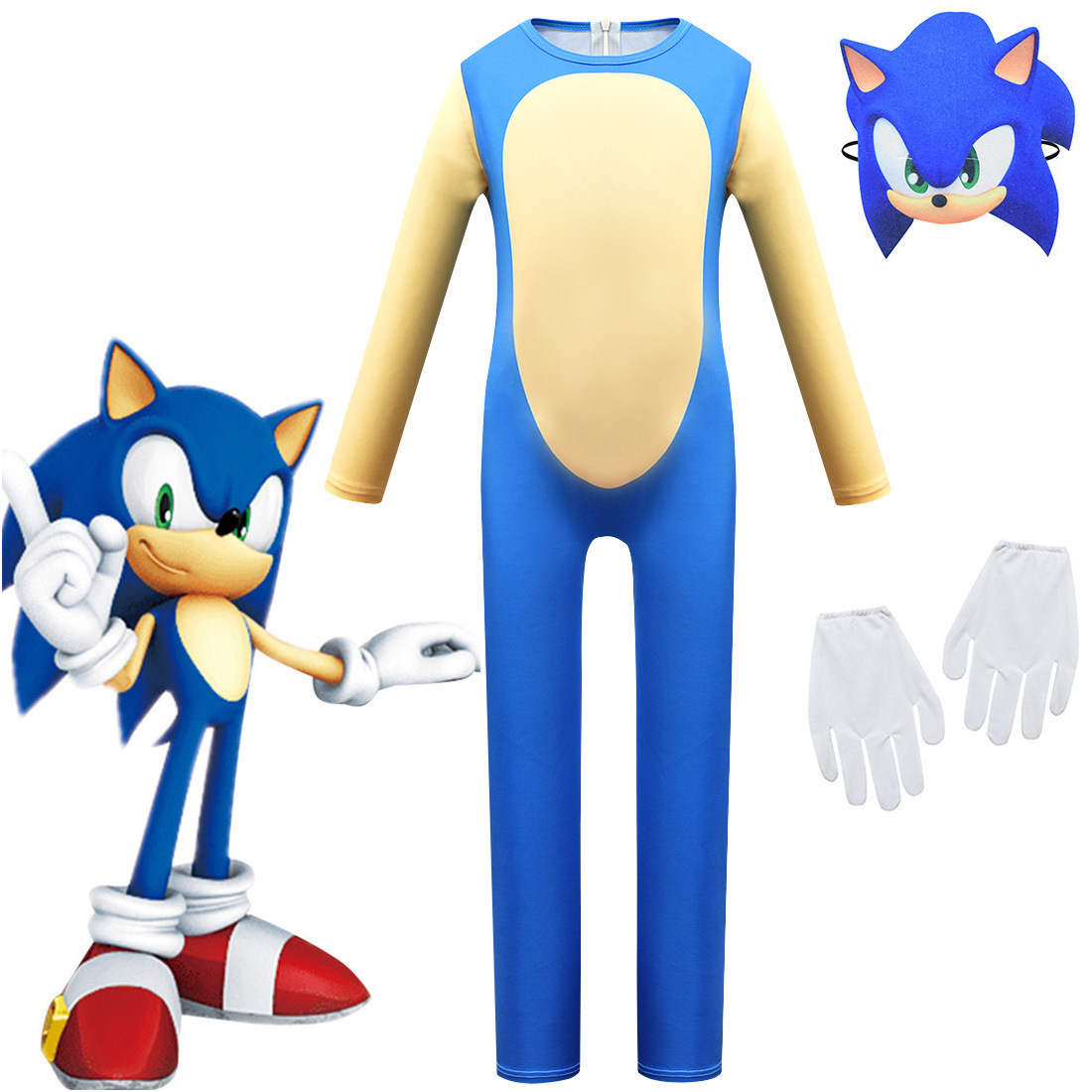 Kids Fancy Sonic The Hedgehog Costume Anime Clothing Children Sonic Party Cosplay Halloween Costume Sonic For Boys Clothing Sets Aliexpress