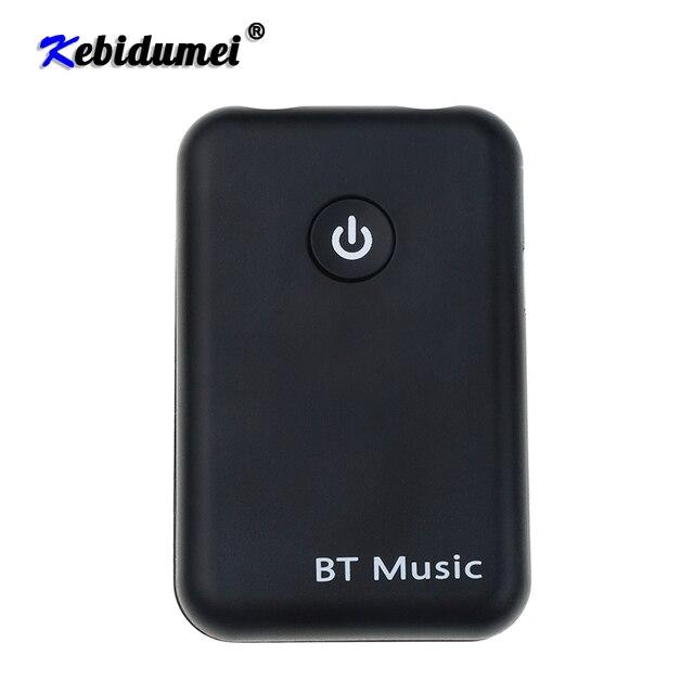 Kebidumei 2 in 1 Wireless Bluetooth V4.2 Transmitter Receiver 3.5mm Stereo Music Audio Adapter for TV Headphones Speaker
