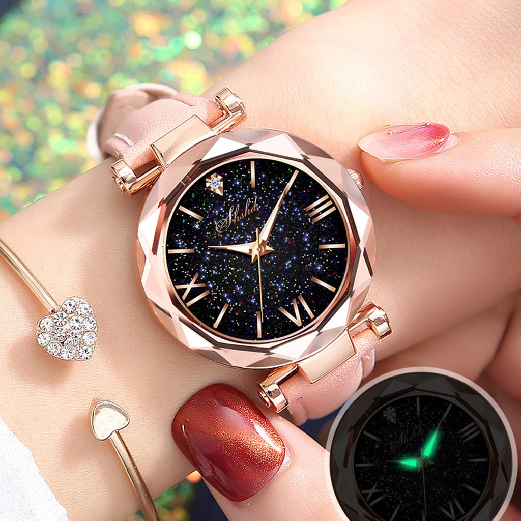 2020 Relogio Feminino Casual Women Watches Fashion Stars Little Point Starry Sky Watches Best Gifts Cheap Price Dropshipping