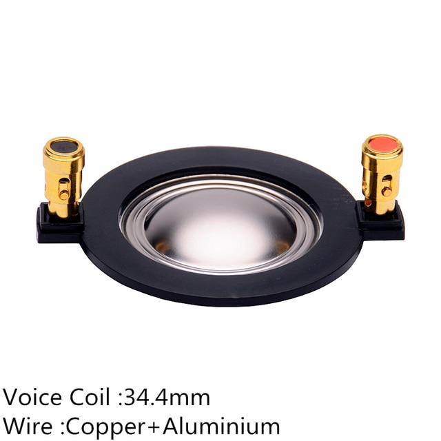 Finlemho Hochtöner Lautsprecher Stimme Spule Membran W34 Titan Reparatur Kit 34,4mm Für Heimkino Höhen Horn Audio Mixer DJ 2PCS