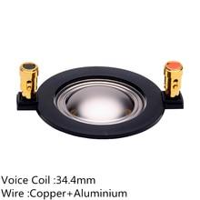 2PC Hochtöner Lautsprecher Schwingspule 34,4mm Titan Membran Reparatur Kit Höhen Horn Für Home Theater Professional Audio Mixer DJ